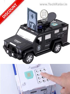 Car Money Bank with Digital Lock
