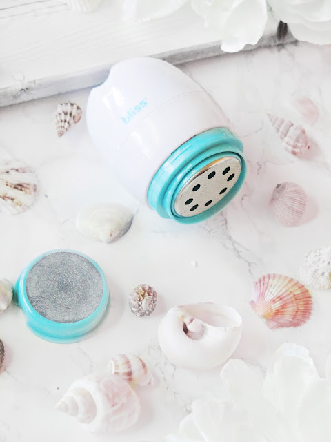 Beach Bliss   How To Get Beach Ready Toes With Bliss   Achilles Heel Spa Powered Heel Smoother Review   labellesirene.ca
