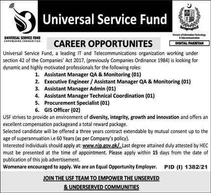 Universal Service Fund USF Jobs 2021