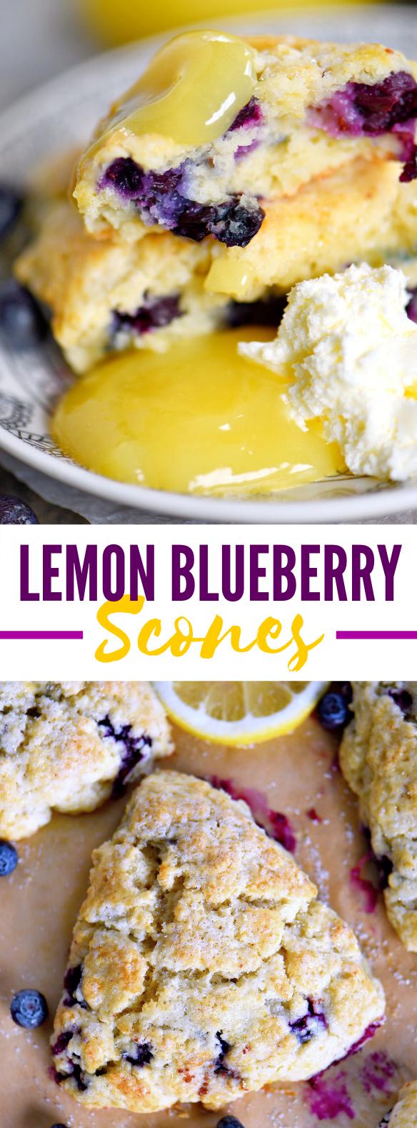 LEMON BLUEBERRY SCONES #desserts #breakfast