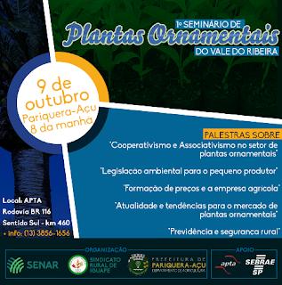 PARIQUERA-AÇU RECEBE SEMINÁRIO DE PLANTAS ORNAMENTAIS DO VALE DO RIBEIRA