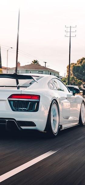 White Audi R8  wallpaper