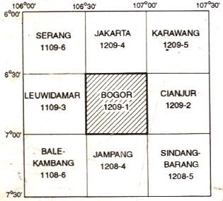 Indeks Peta Geologi Lembar Bogor