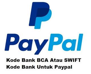 Kode Bank Bca Atau Swift Kode Bank Untuk Paypal Cara Mentransfer