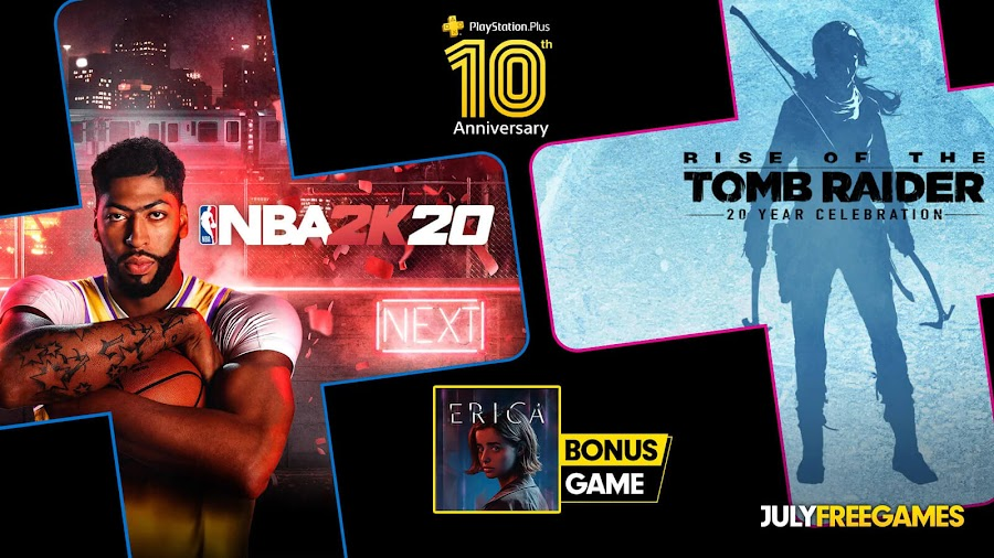 nba 2K20 rise of the tomb raider 20 year celebration erica game ps4 plus sony interactive entertainment 2k sports visual concepts square enix flavourworks ps vr