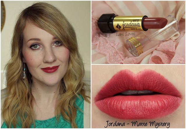 Jordana Matte Mystery lipstick swatch