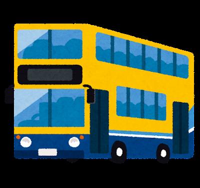 アイルランドの二階建てバスのイラスト