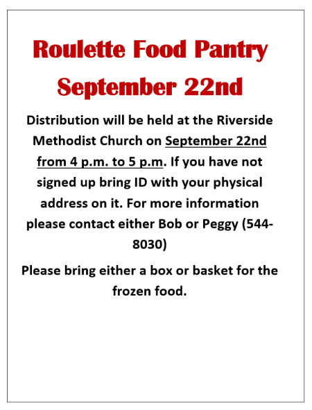 9-22 Roulette food Pantry