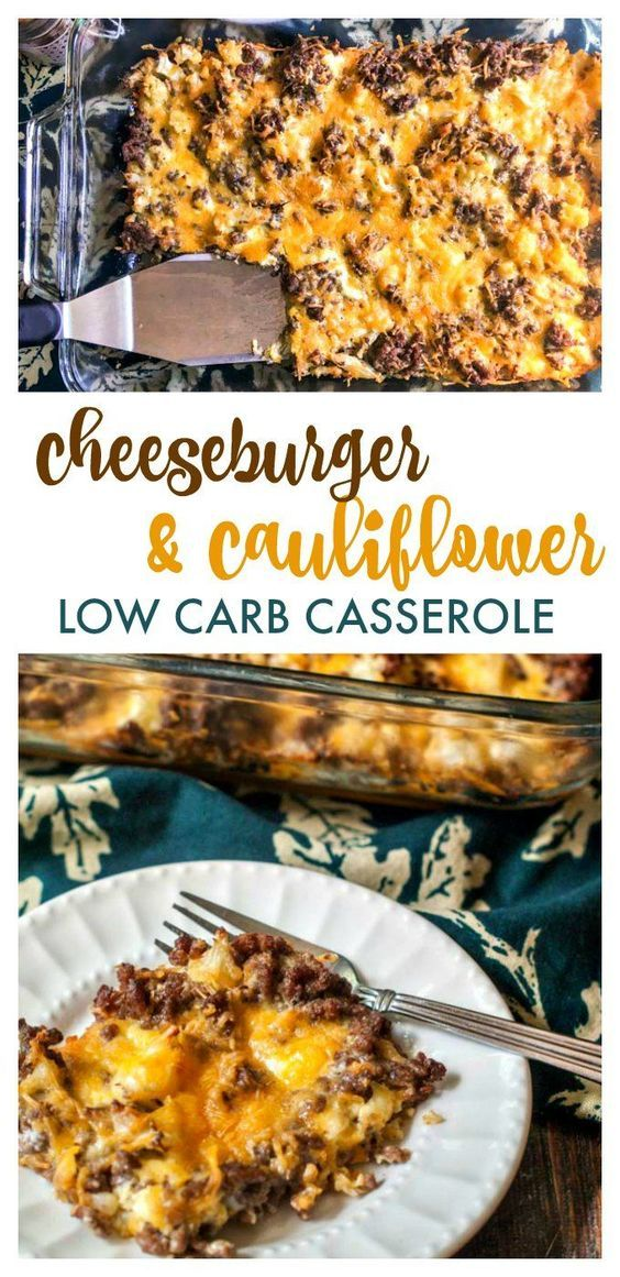 Low Carb Cheeseburger & Cauliflower Cauliflower