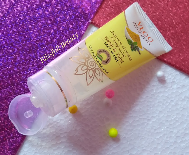 Vlcc Ayurveda deep pore cleansing & brightening haldi & tulsi face wash Review