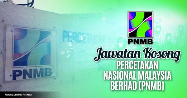 jawatan kosong terbaru PNMB 2018