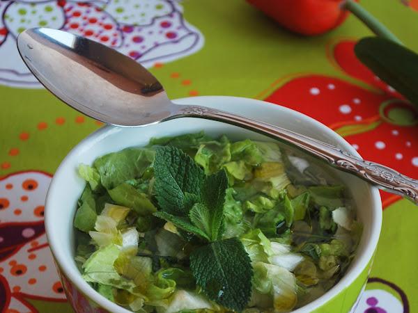 Gazpacho de lechuga y yerbabuena