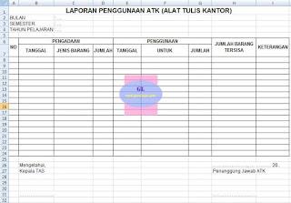 laporan penggunaan atk (alat tulis kantor)