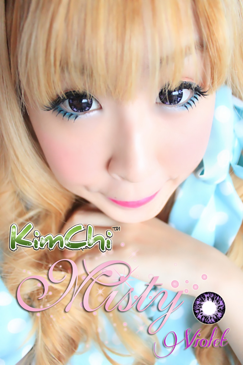 Kimchi Misty Violet circle lens review