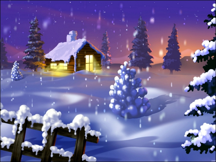 3d Snowy Cottage Animated Wallpaper Windows 7 Christmas Wallpapers Free Merry Christmas Cards