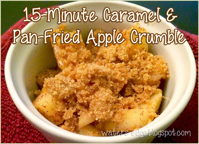 15 minute caramel and pan fried apple crumble dessert recipe