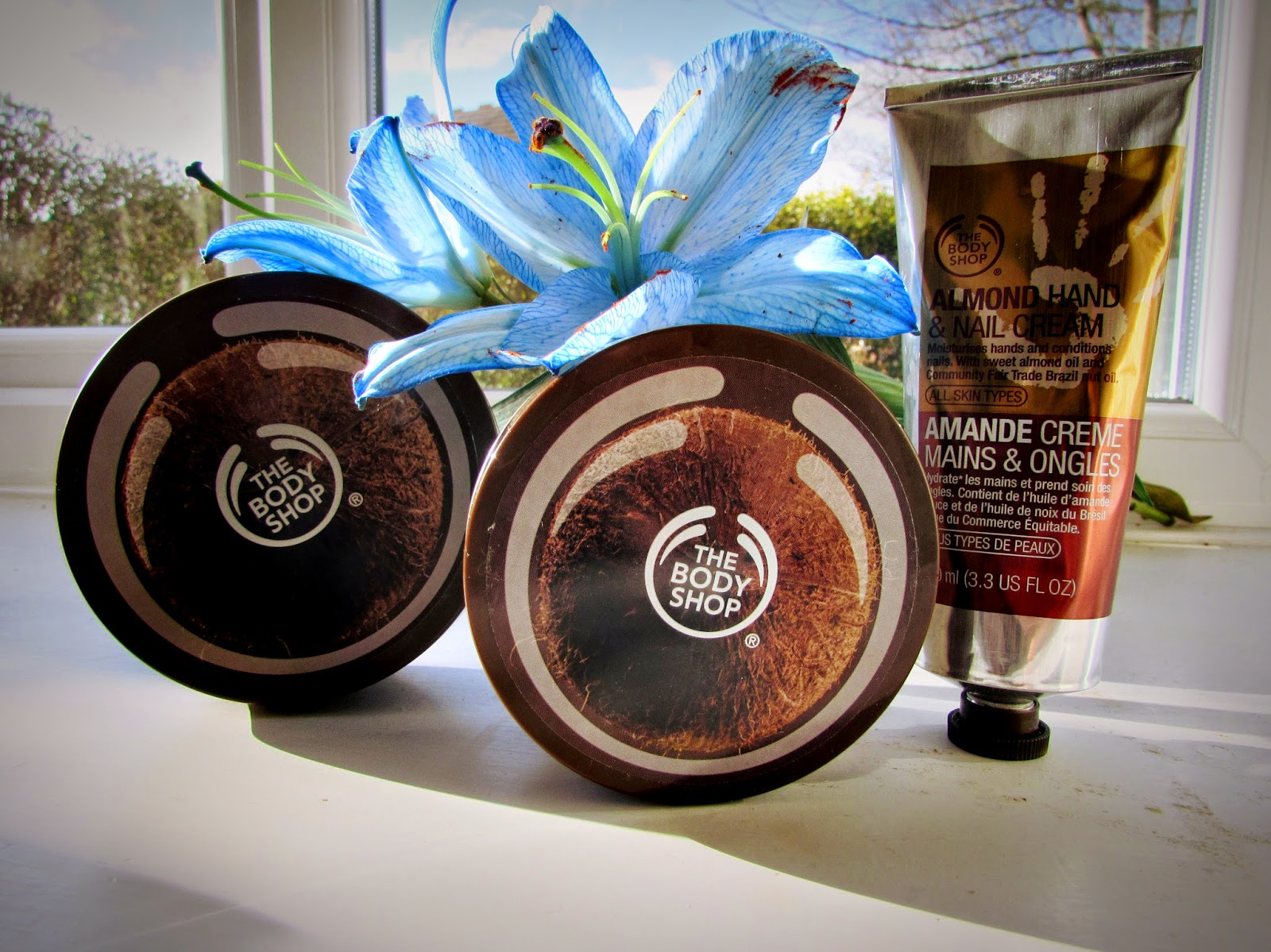 The Body Shop | Coconut body butter |Coconut body scrub | Almond hand and nail cream