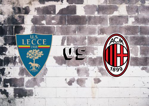 Lecce vs Milan  Resumen y Partido Completo