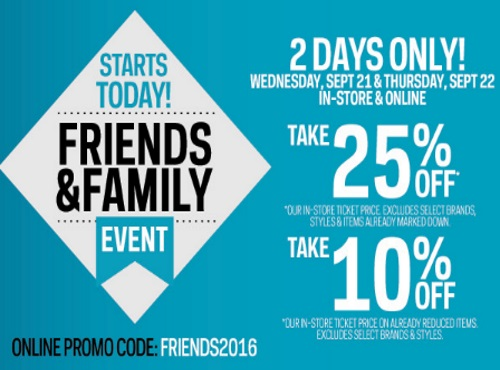 Sportchek Friends & Family Event