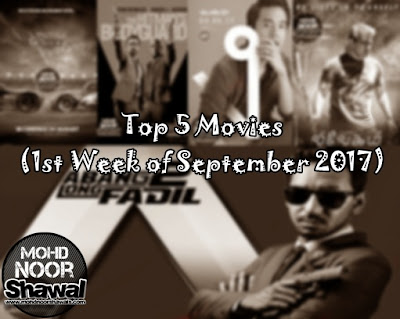 Top 5 Movies (1st Week of September 2017)