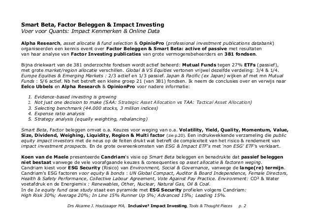 Impact Investing Nieuws