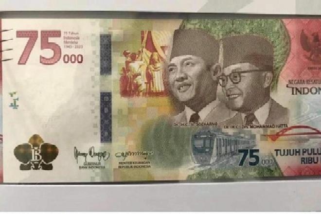 Hut ke-75 RI, BI Luncurkan Uang Pecahan Nominal Rp 75.000