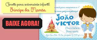 Convite de Aniversário Infantil Príncipe