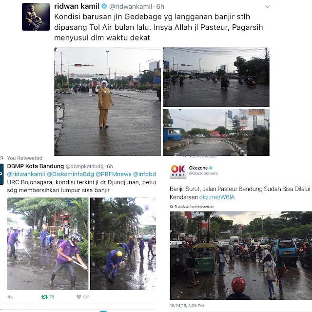Ridwan Kamil Meminta Maaf Atas Banjir Kota Bandung, Lihat Reaksi Netizen di Medsos