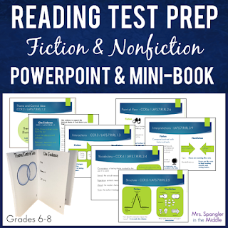 Here are some easy ways to review your middle school reading standards before the BIG TEST! #tips #ideas #testprep