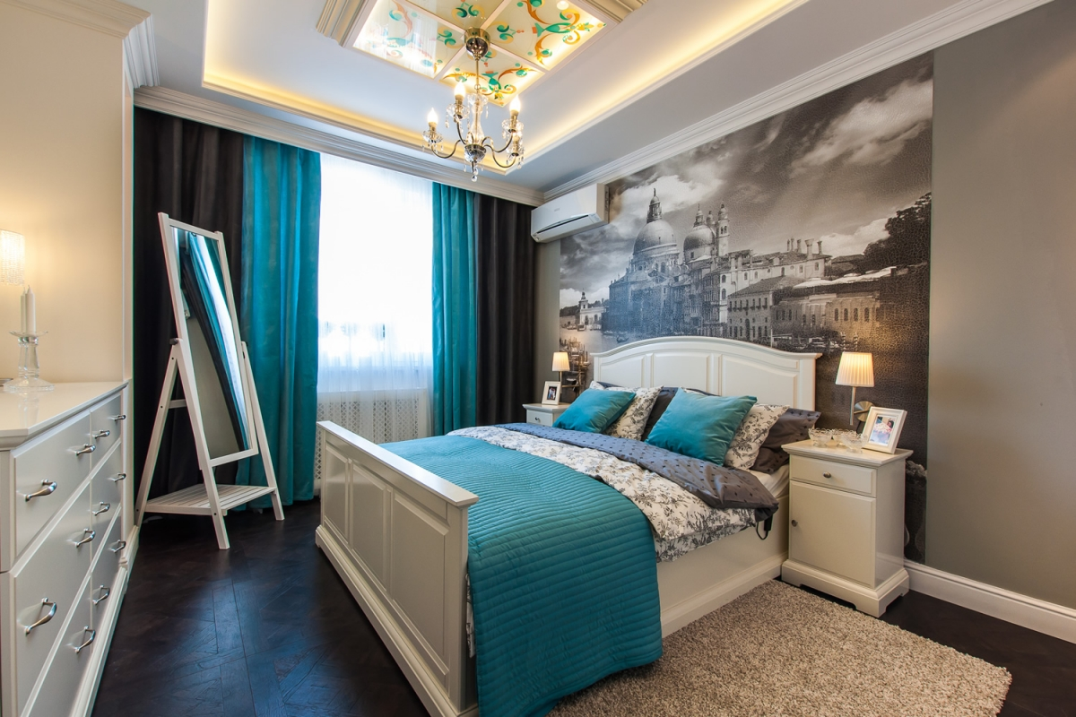 ¿Cómo elegir cortinas para dormitorios? | Revista ... Бирюзовая Гостиная