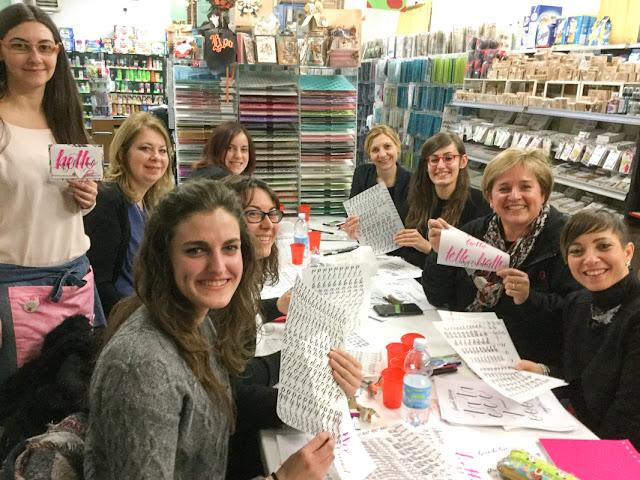 il negozio della mamma di Cle weekend di brush lettering | www.kkushi.com