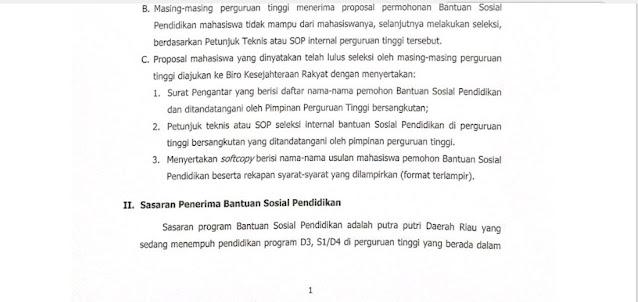 Info Resmi Beasiswa Bansos Pemprov. Riau dan Ada Sedikit Perbedaan dari Info Sebelumnya