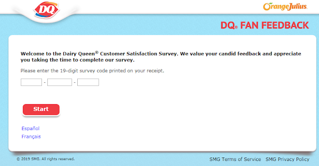 Dairy Queen Fan Customer Satisfaction Survey