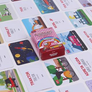 Kartu Pintar Balita Flashcard Kendaraan & Transportasi