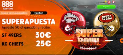 888sport superapuesta Super Bowl SF 49ers vs KC Chiefs 3 febrero 2020