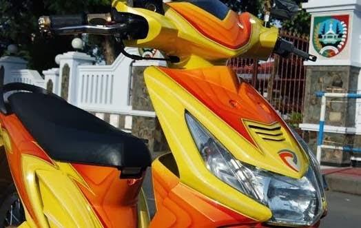 Modifikasi Motor Honda BeAT 2008 : Simpel tapi Tetap Modis