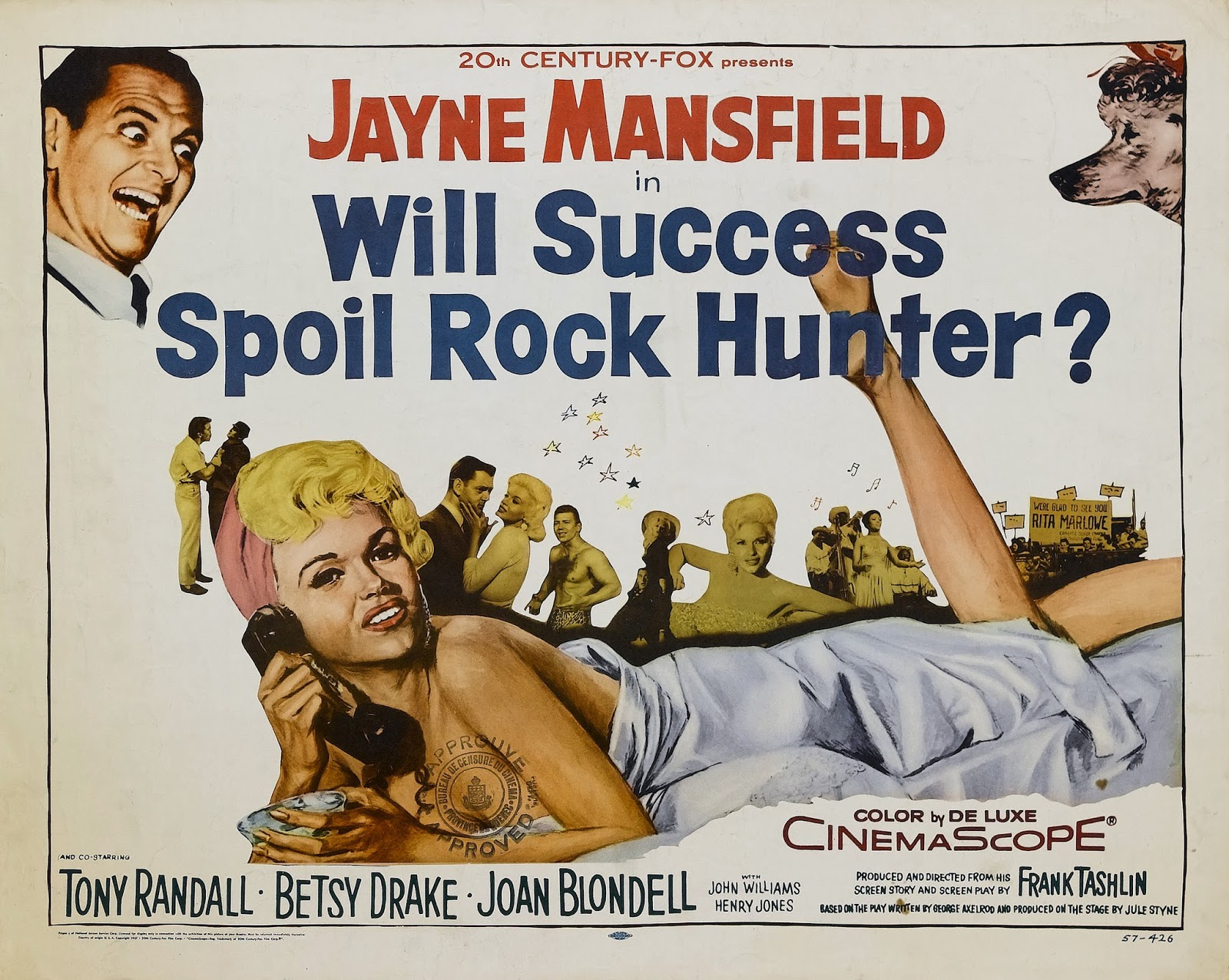 5bcf64ff36f2bf Will Success Spoil Rock Hunter? is a 1957 American satirical comedy film  starring Jayne Mansfield and Tony Randall, with Betsy Drake, Joan Blondell,  ...