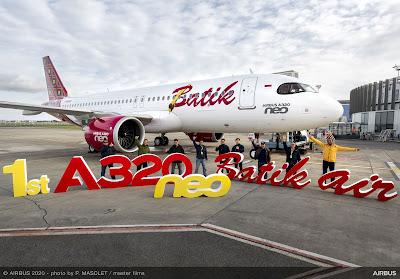 Airbus A320neo, PK-BDF, Batik Air