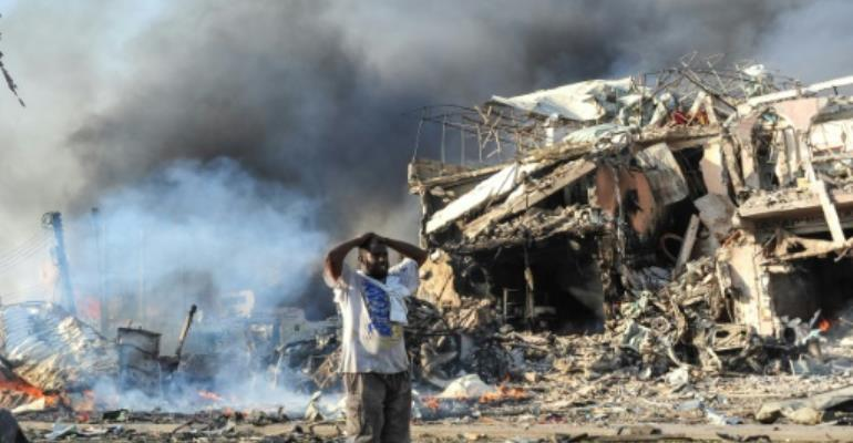 Report finds 512 died in deadliest Somalia bombing,The October 14 bombing in the centre of Mogadishu was Somalia's worst ever terrorist attrocity. By Mohamed ABDIWAHAB, Mohamed ABDIWAHAB (AFP/File)