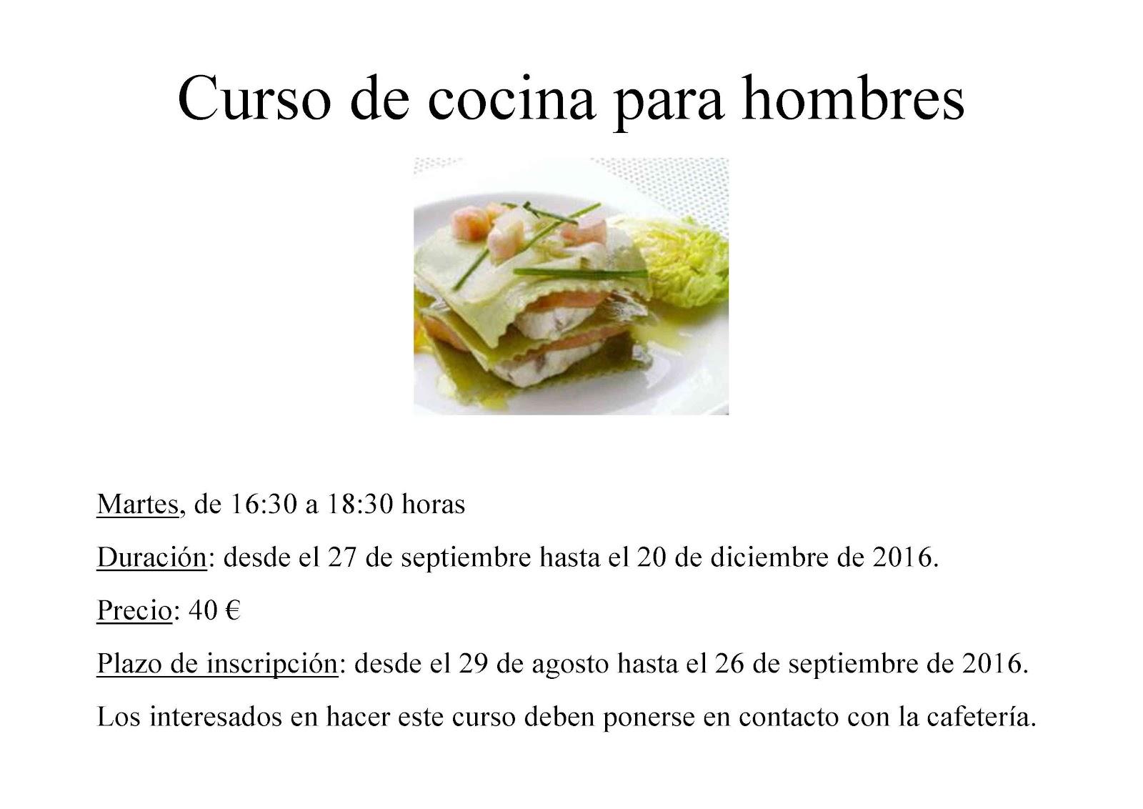 Curso de cocina b sica para hombres en el centro de d a for Curso de cocina basica pdf