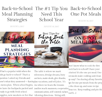 Jen Haugen RDN, LD Blog and Meal Planning for Back to School