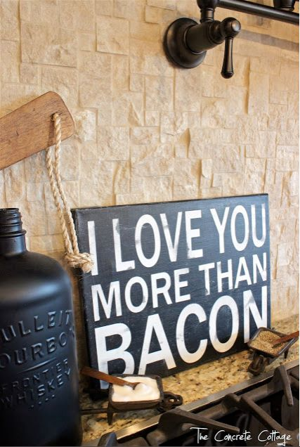 """I Love You More Than Bacon"" Sign"