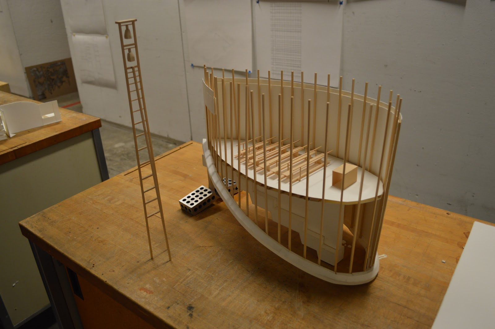 J Turn St Benedict Chapel By Peter Zumthor 1 30 Scale Model