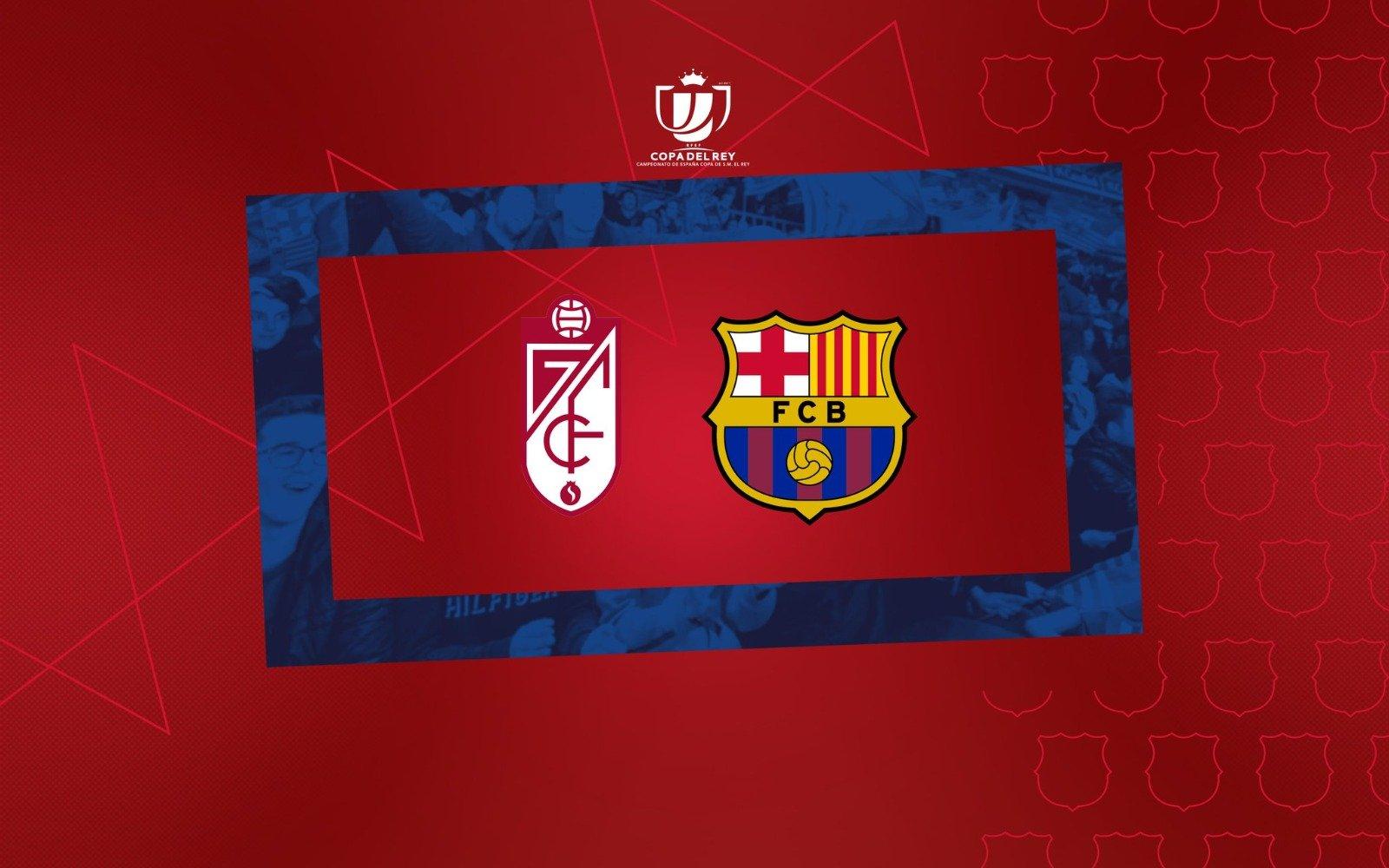 برشلونه ضد غرناطه فى ربع نهائي كأس ملك اسبانيا موسم 2020/2021