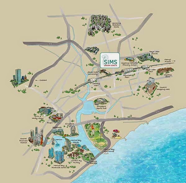 Sims Urban Oasis Location Map