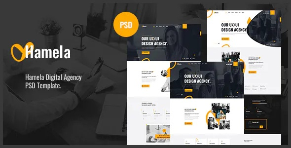 Best Digital Agency Services PSD Template