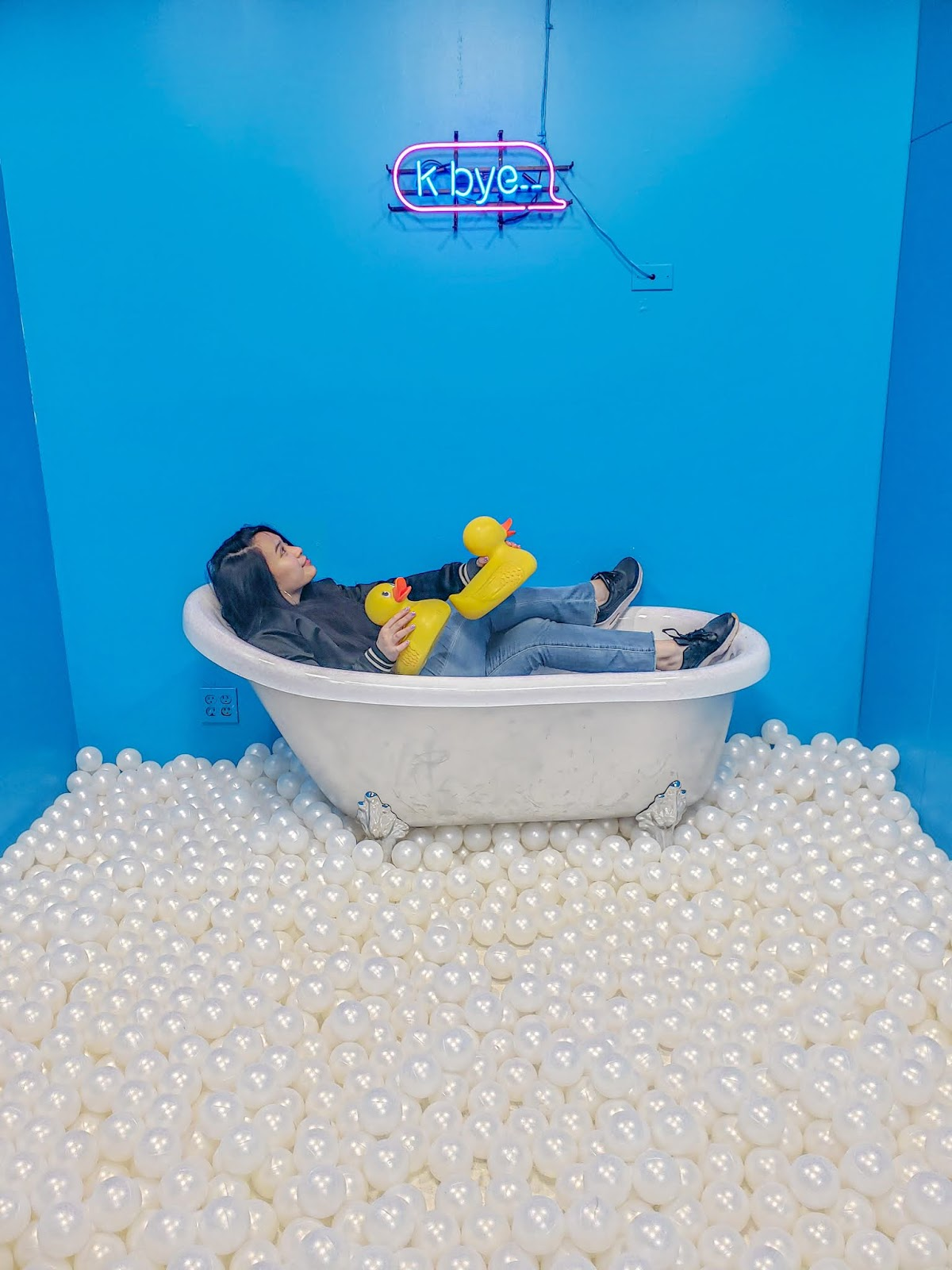Bath ball pit at the Seattle Selfie Museum in downtown Pike Place Market