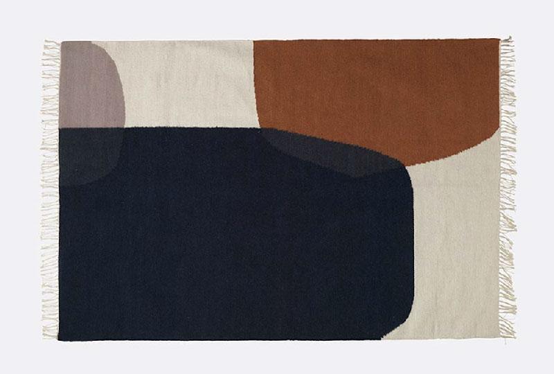 tappeto in lana Kelim rug di Ferm Living