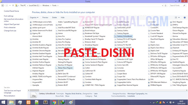 2 Cara Install Font CorelDraw, Photoshop, Ai dan MS Office  | via Directory