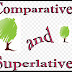 The comparative and superlative forms of adjectives